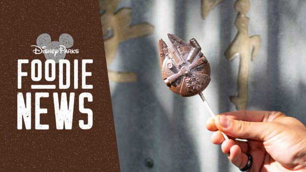 Disney Parks Foodie News featuring the Millennium Falcon Chocolate Pop from The Ganachery at Disney Springs