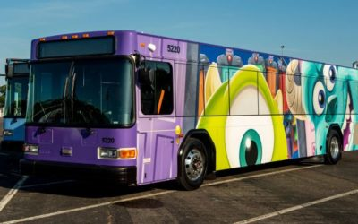 New Character Wraps Debut on Walt Disney World Buses