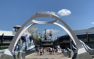 New Tomorrowland Sign Debuts at Walt Disney World's Magic Kingdom