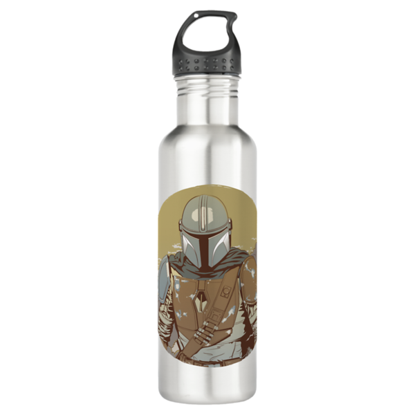 The Mandalorian Walking Through Smoke Stainless Steel Water Bottle - $27.90