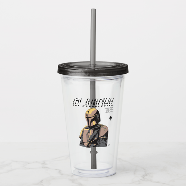 The Mandalorian Canons of Honor Graphic Acrylic Tumbler - $16.75