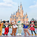 The Mickey Floral Turns Into The Duffy Floral at Shanghai Disneyland