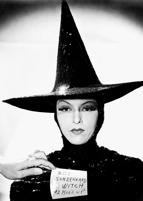 "MGM's ""Evil Queen"" Wicked Witch wardrobe test."
