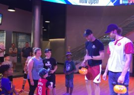 NBA Stars Brook and Robin Lopez Visit NBA Experience at Disney Springs to Celebrate Halloween