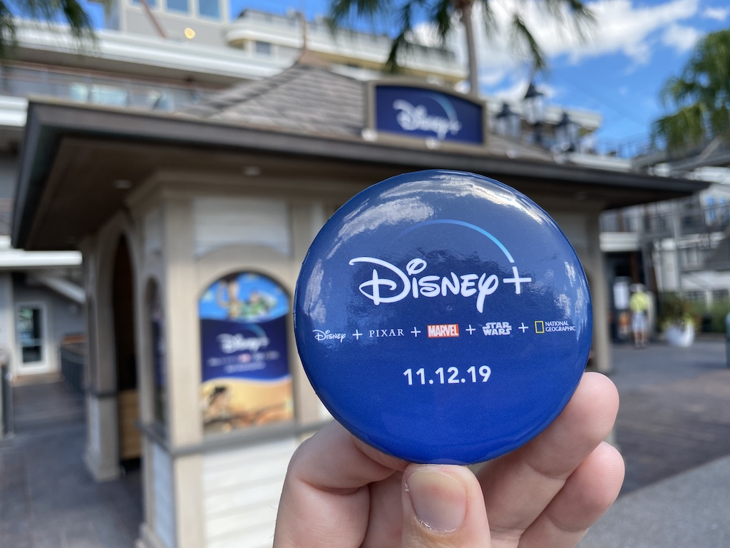 Free Disney+ pin available while supplies last