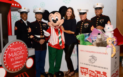 Mandy Moore, U.S. Marines Kick Off 2019 Toys for Tots Toy Drive at The Disney Store