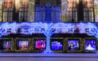 "Saks Fifth Avenue Unveils ""Frozen 2"" Window Display During Special Ceremony Featuring Idina Menzel"