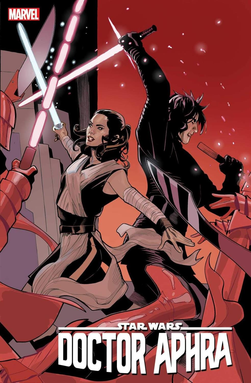 """""""Doctor Aphra"""" #40 Rey and Kylo Ren variant cover"""