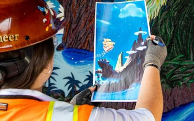 Disney Shares First Look at Mosaics Being Installed at Disney's Riviera Resort