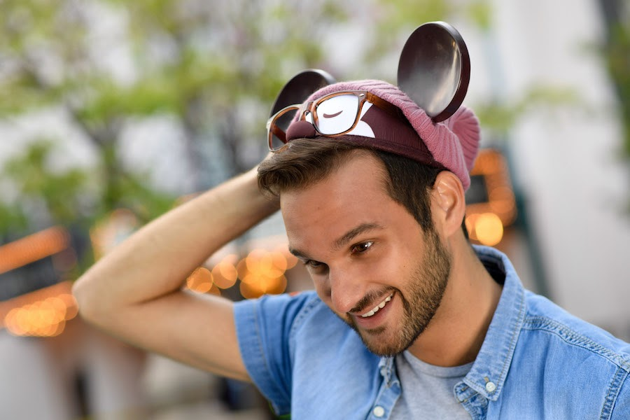 Disney Parks Designer Collection Hipster Mickey Mouse ear hat