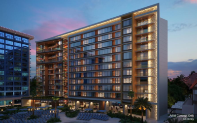 Concept Art Image Revealed for Proposed Disney Vacation Club Tower at Disneyland Hotel
