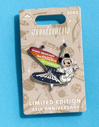 Space Mountain 45th anniversary pin