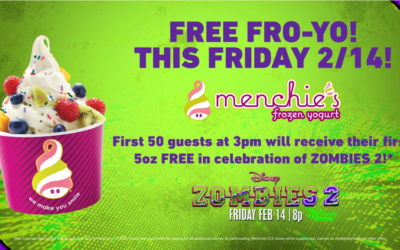 """Disney Channel and Menchies Announce Free Frozen Yogurt in Celebration of Release of """"Zombies 2"""""""