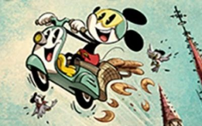 """New Mickey Shorts Poster """"Croissant De Triomphe"""" Unveiled for Mickey and Minnie's Runaway Railway"""