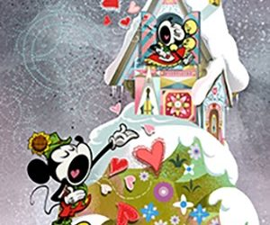 """Yodelberg"" Poster for Mickey & Minnie's Runaway Railway Queue Unveiled"
