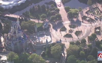 Empty Magic Kingdom Flyover Video Released by WKMG 6