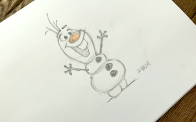 "Learn to Draw Olaf from ""Frozen"" in the Second #DrawWithDisneyAnimation Video"