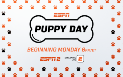 ESPN Celebrates National Puppy Day with 6-Hours of Puppy Programs on March 23rd