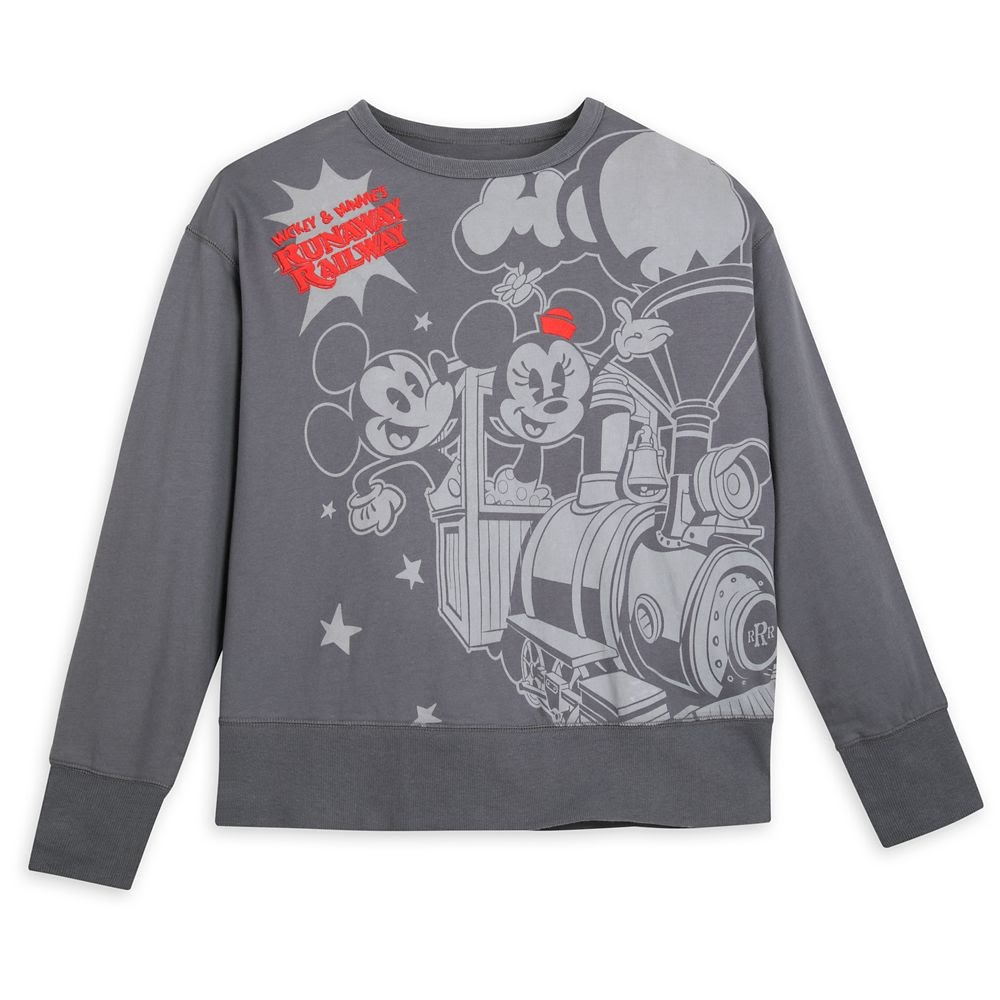 Mickey and Minnie Mouse Runaway Railway Pullover for Women