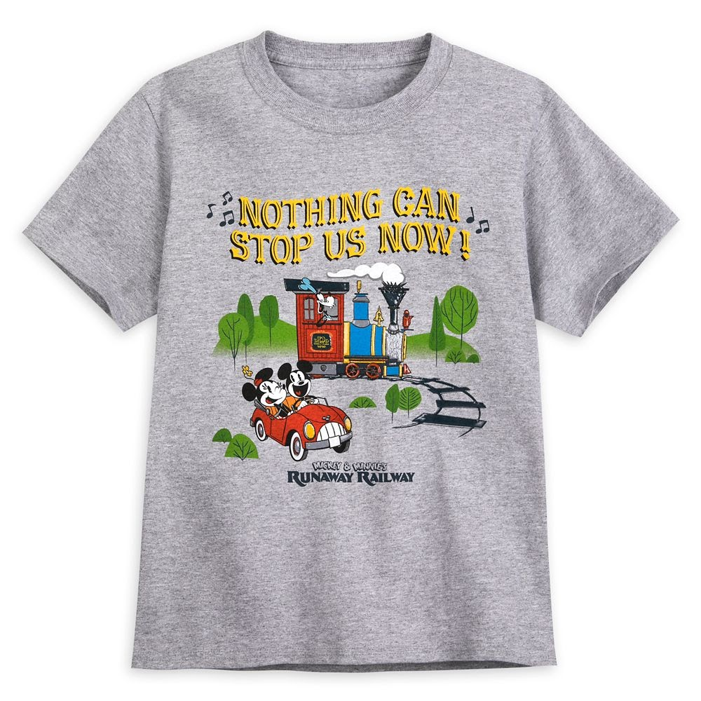 Mickey and Minnie Mouse Runaway Railway T-Shirt for Kids
