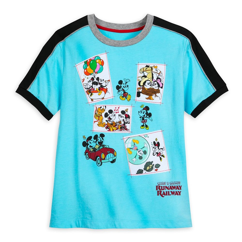 Mickey and Minnie Mouse Runaway Railway Fashion T-Shirt for Women