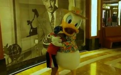 Moment of Disney Bliss: Meeting Donald Duck on the Disney Cruise Line