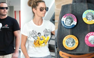 """Toynk Toys Shirts and Buttons from """"The Golden Girls"""" Summer Collection"""