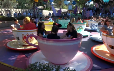 Moment of Disney Bliss: Mad Tea Party at Disneyland