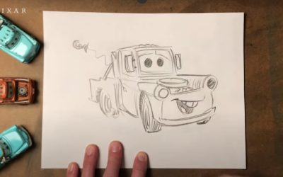 "Pixar Artist Teaches us How to Draw Mater from the ""Cars"" Franchise"