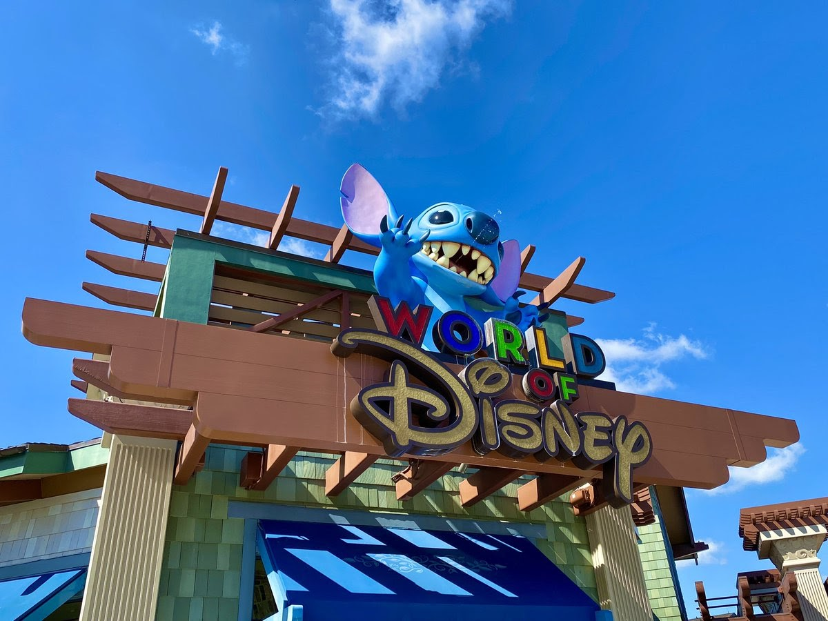 World of Disney will not open until May 27th, but Stitch is still spitting on guests