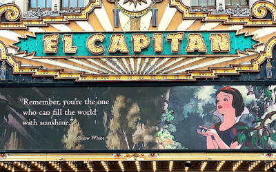 Disney's El Capitan Theatre in Hollywood Shares Inspiring Quotes on Marquee