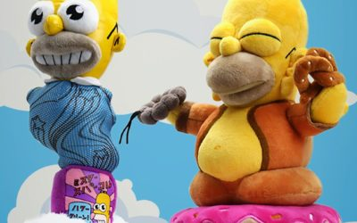 "KidRobot Releases Mr. Sparkle and Homer Buddha Plush Figures from ""The Simpsons"""