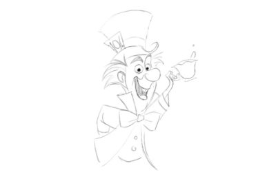"Learn to Draw The Mad Hatter From ""Alice In Wonderland"""