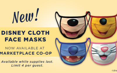 Character-Themed Face Masks Now Available at Marketplace Co-Op at Disney Springs