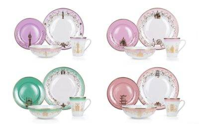 Tiana, Mulan, Aurora, and Rapunzel Featured on New Disney Princesses Dinnerware Collection from Toynk Toys