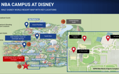 NBA Teams Assigned to Walt Disney World Resorts Based on Tournament Seeds