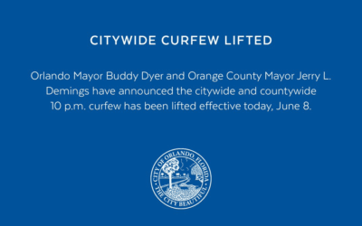 Recently Implemented Curfew in Orange County, FL Has Been Lifted, Effective Immediately