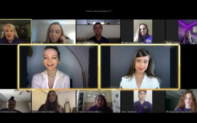 Sofia Carson and Dove Cameron Surprise High School Theater Students on Zoom Call