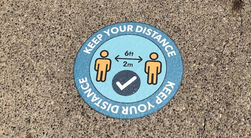 Social Distance markers