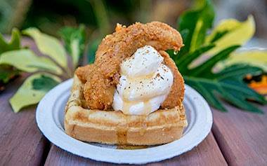 Chicken and Waffle at SeaWorld's Seven Seas Food Festival