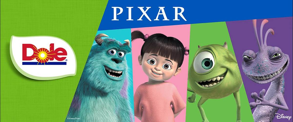 Dole Teams Up With Pixar S Monsters Inc For Fruits And Veggies Don T Have To Be Scary Initiative