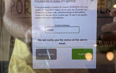 "FuelRod Kiosks Share Notice of ""Founders"" Status, Allowing Customers to Get Free Unlimited Swaps"