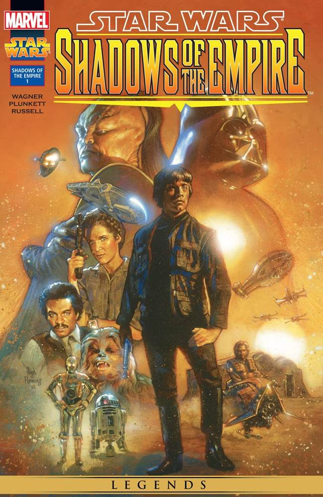 """Marvel's reprint of Dark Horse's """"Star Wars: Shadows of the Empire"""" comic book series"""