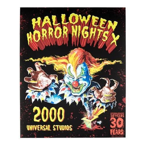 Halloween Horror Nights 2020 Poster Special 30th Anniversary Halloween Horror Nights Merchandise