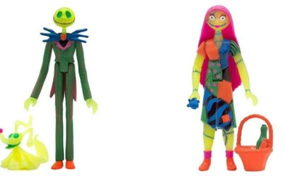 Neon Jack and Sally Figures Featured in Super 7's Spectacular Stay-at-home-ic-con Special