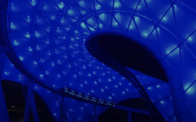 """Enter the Grid in Shanghai Disneyland with TRON Lightcycle Power Run """"Ride and Learn"""" Video"""