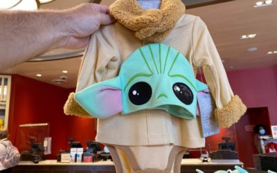 Baby Yoda Infant Onesie, Adult Hat Debut at Disney World