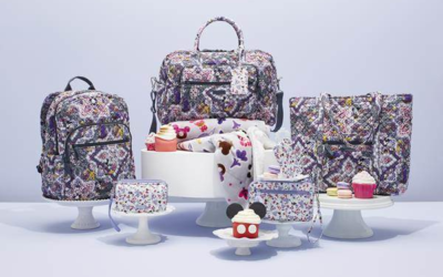 """Vera Bradley Creates New Limited-Release Patterns for Disney Parks, """"Mickey's Sweet Treats"""" and """"Sweet Treat Ditsy"""""""