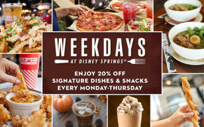 """Disney Springs Announces Special Deals at Various Locations as Part of """"Weekdays at Disney Springs"""""""