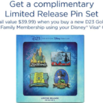 Disney Visa Cardholders Can Get a Free Pin Set When Signing Up for D23 Gold or Gold Family Memberships